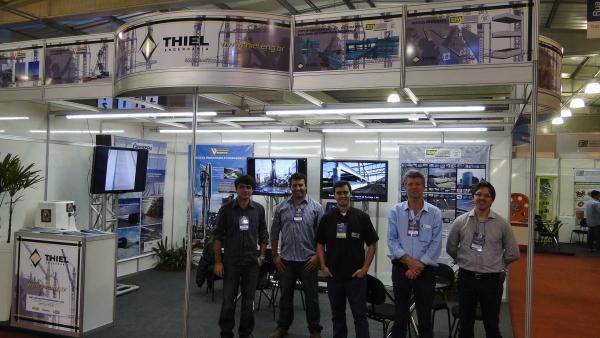 Presença dos engenheiros: Ederson da BPM, Sérgio e Bruno da BRASECOL e Rafael - Gerente Comercial da ENGEPOLI