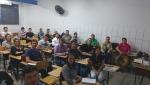 Vista da sala, acadêmicos e Prof. Luiz