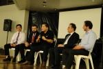 Ao final foi formada a banca com os palestrantes que responderam as perguntas da platéia