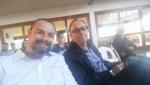 Diretoria da ASCEA: Engs. Sérgio (d) e Denis.