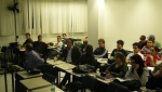 Entre os alunos, os Engs. Carlos Augusto Bedin, Alexandre Vargas, Nivaldo e Cynthia Richter