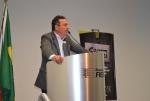 Nivaldo de L. Richter abriu o avento e proferiu palestra sobre a utilização da plataforma BIM na prefabricação