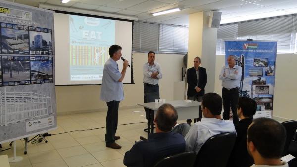 Eng. Adalberto agradece ao apoio da BPM, SINDUSCON e ASCEA.
