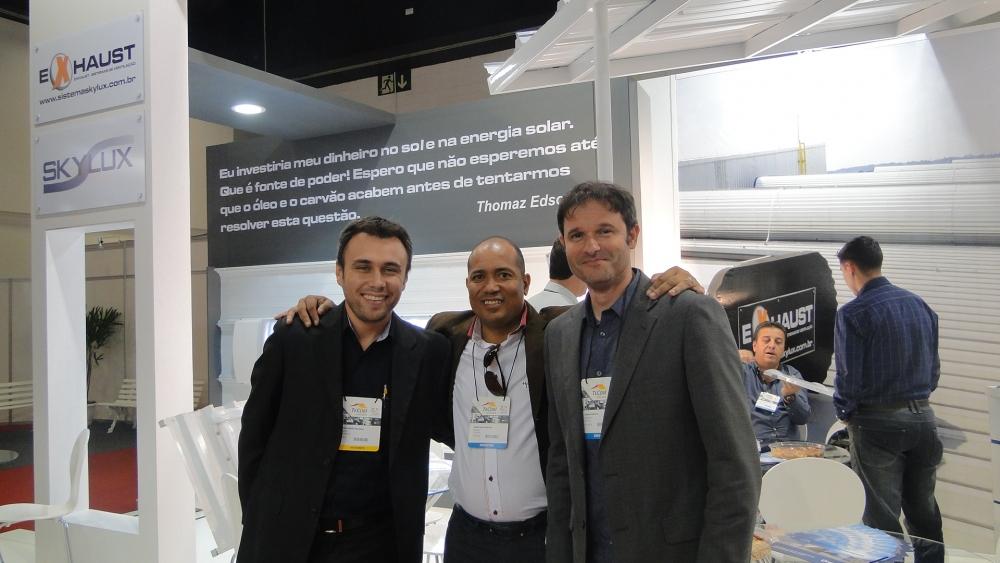 Parceiros Rafael, Sidney e Cássio (diretor da ENGEPOLI)