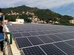 Usina ELETROSUL Fpolis - Painéis fotovoltaicos sobre a cobertura
