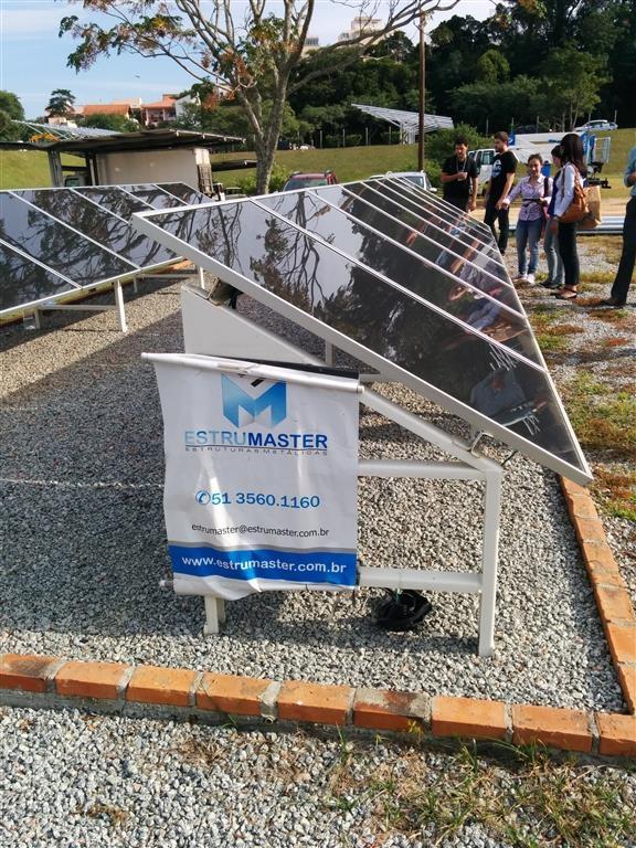 Usina ELETROSUL Fpolis - Painéis fotovoltaicos - Unidade piloto
