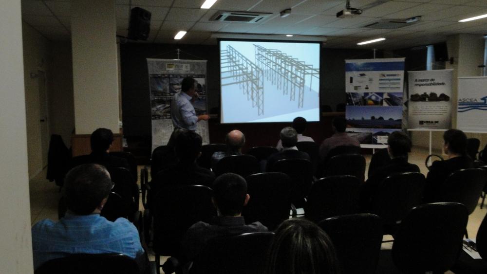 Visualização da estrutura em projeto