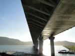 Vista da Ponte Anita Garibaldi a partir da margem norte