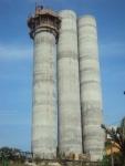 O terceiro silo quase concluído
