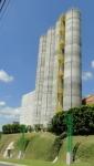 Vista externa dos 4 silos com h=35m