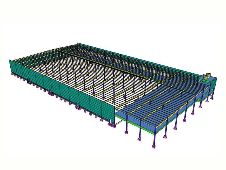 Maquete eletrônica - área da obra: 18.039 m²