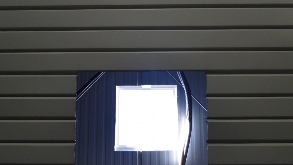 Abertura para duto intralux, no forro e no telhado